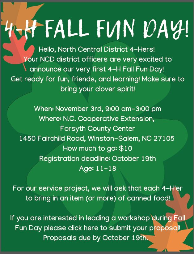 4H Fall Fun Day