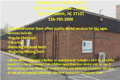 The Dental Center Team offers quality dental services for ALL ages.