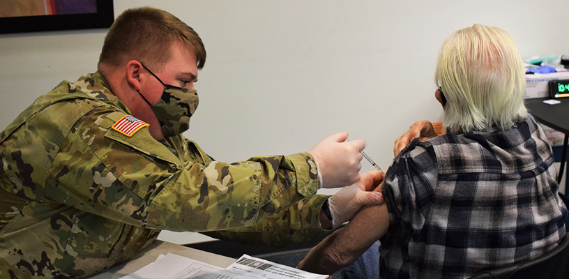 National Guard helps with COVID-19 vaccination