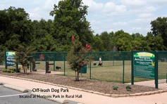 Off-leash Dog Park - located at Horizons Park in Rural Hall